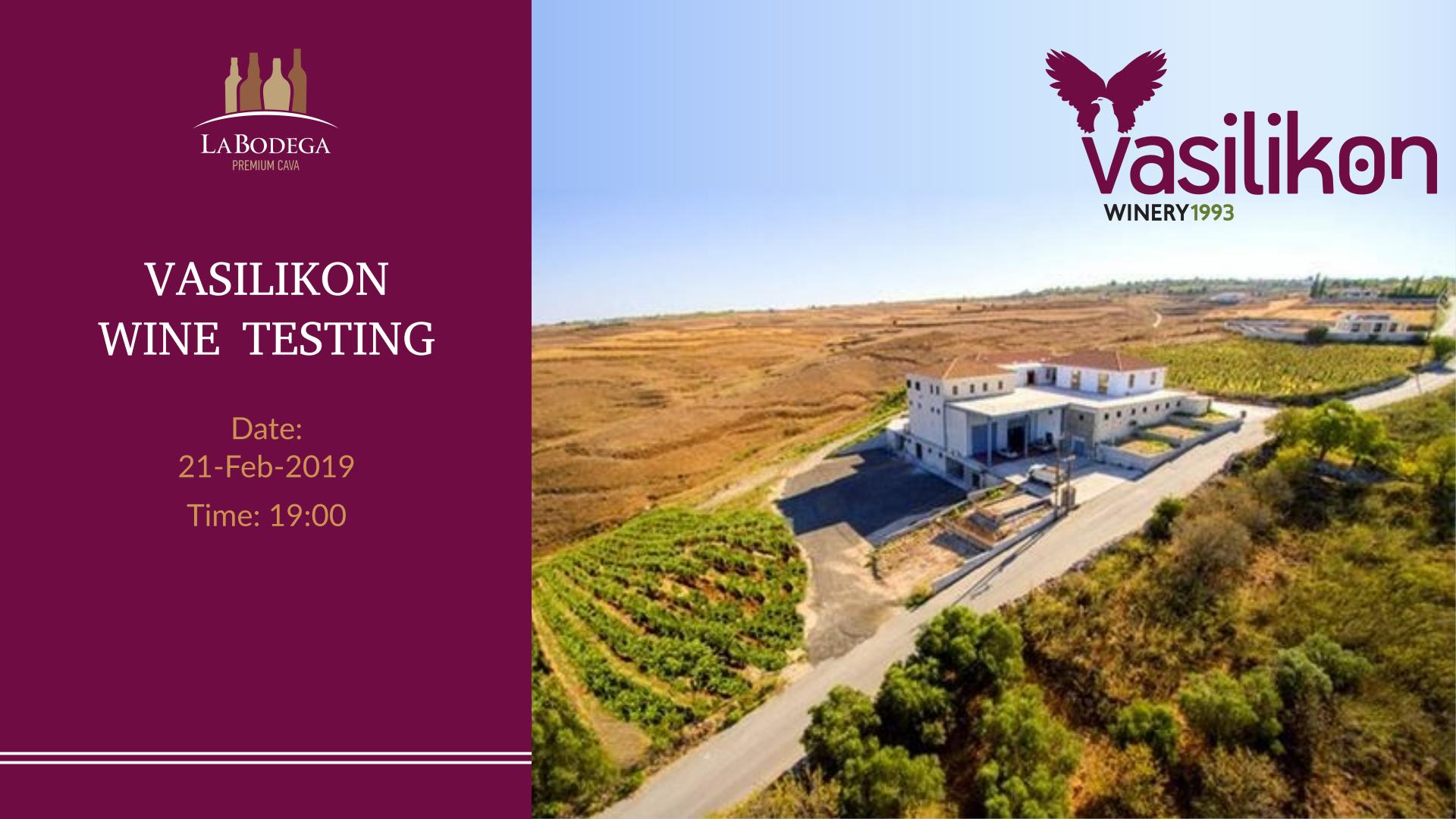 Vasilikon Wine Tasting